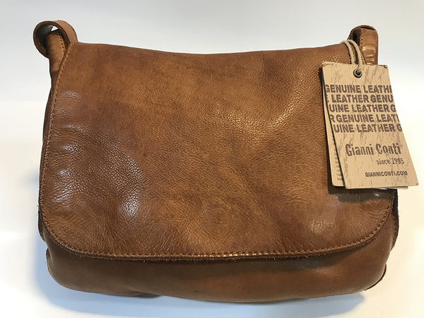 Gianni Conti sac à main cuir vintage porté bandoulière 420 3341, collection Shelly